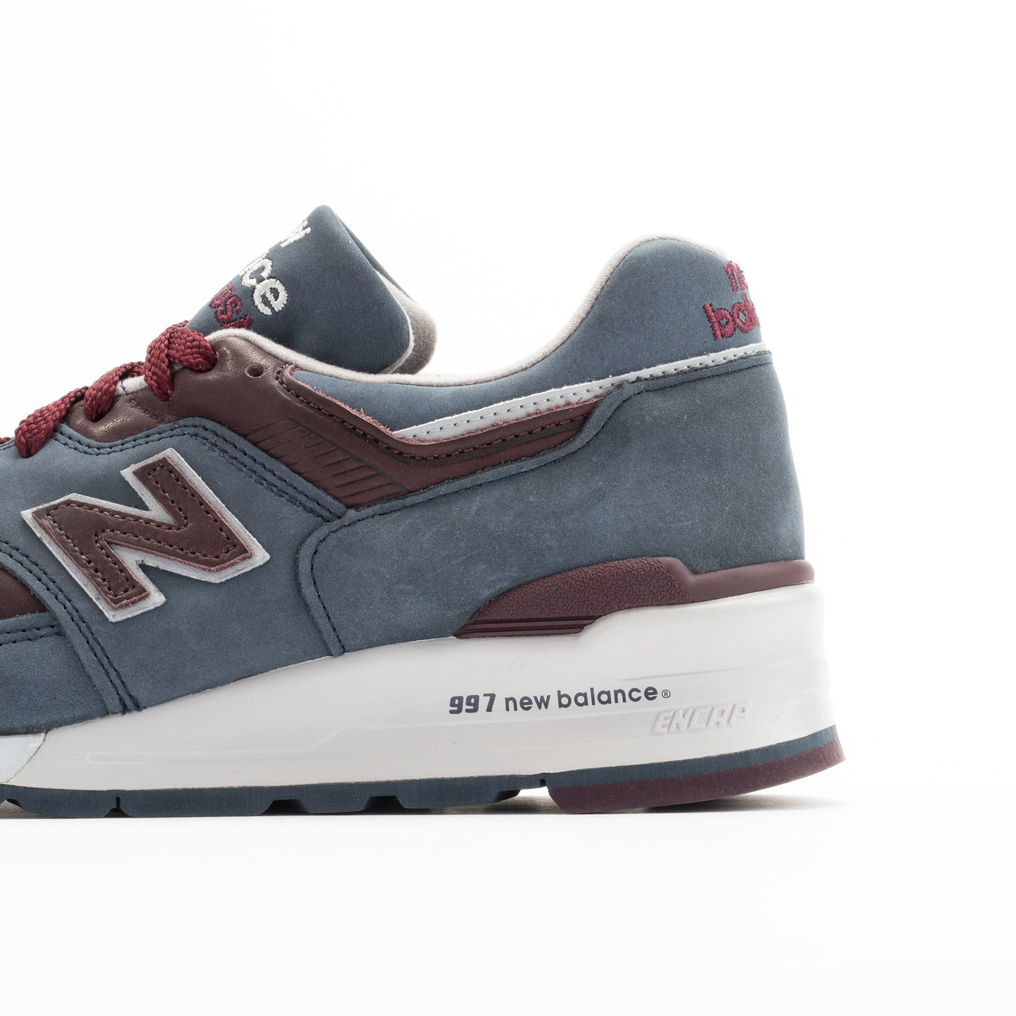 New Balance M997 DGM - Made in USA Grey Steel / Burgundy M997DGM-42.5