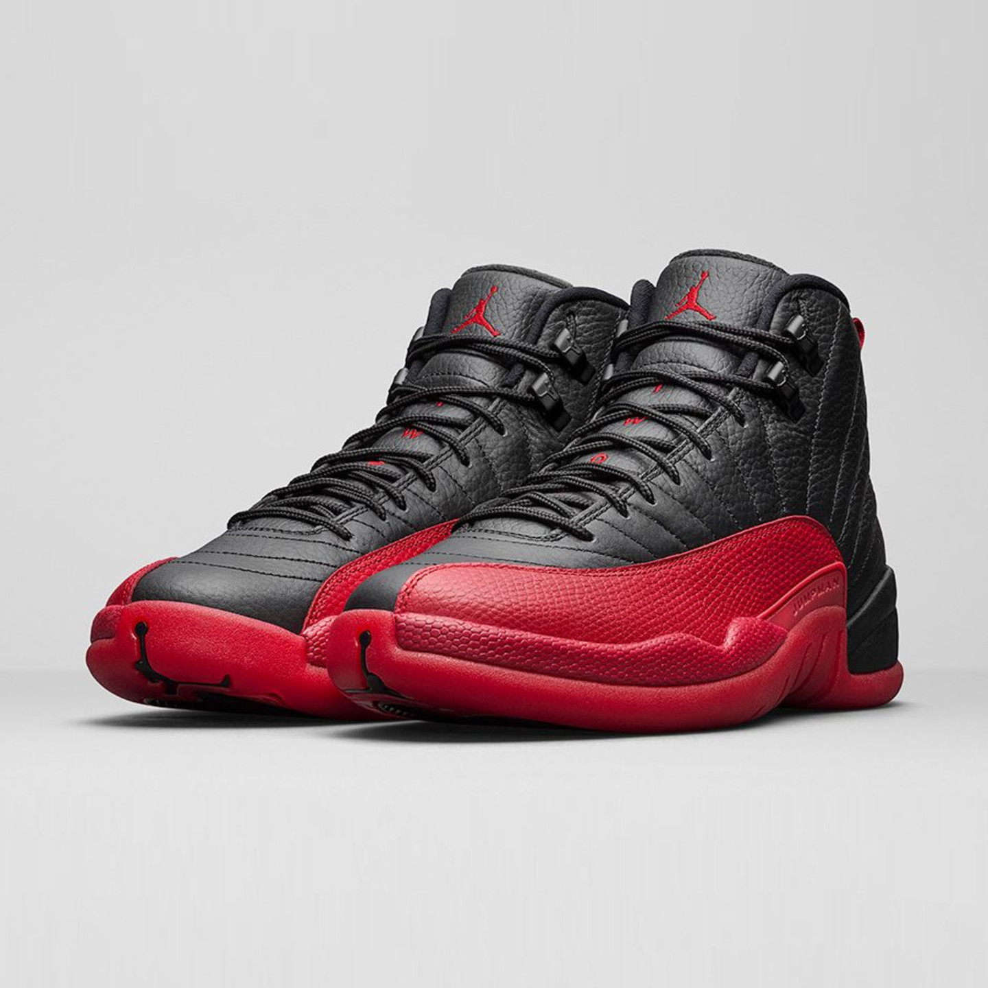 Jordan Air Jordan 12 Retro 'Flu Game' Black / Varsity Red 130690-002-47