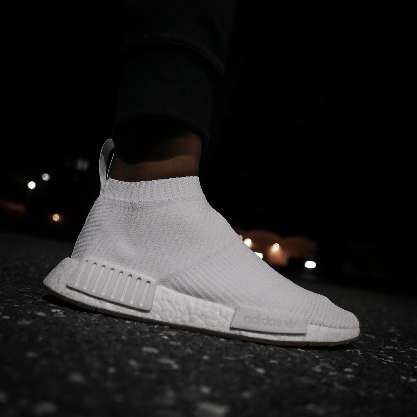 Adidas NMD CS1 City Sock Boost Primeknit Running White / Gum BA7208-46