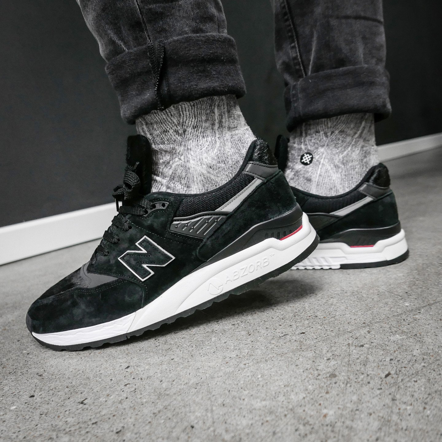 New Balance M998 'Black Pony' - Made in USA Black / White M998TCB