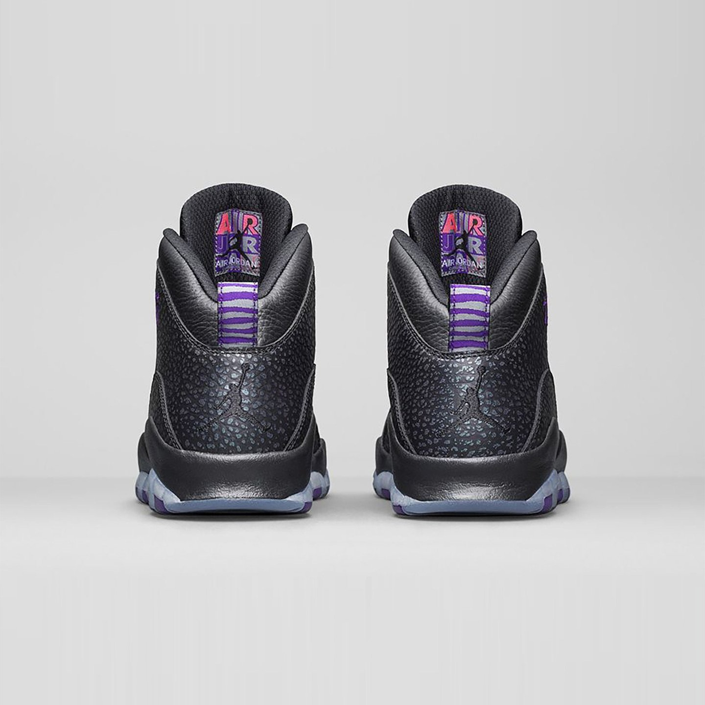 Jordan Air Jordan 10 Retro 'Paris' Black / Fierce Purple 310805-018-44.5