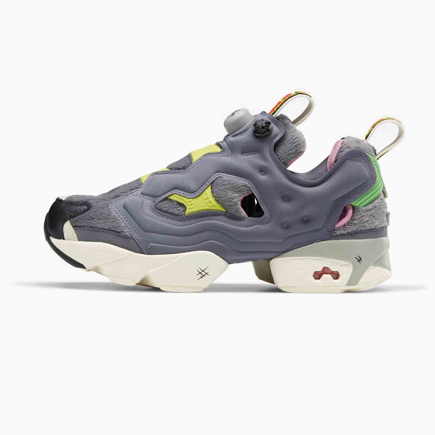 Reebok Instapump Fury 'Tom & Jerry' Cold Grey / Hero Yellow / Black FW4656