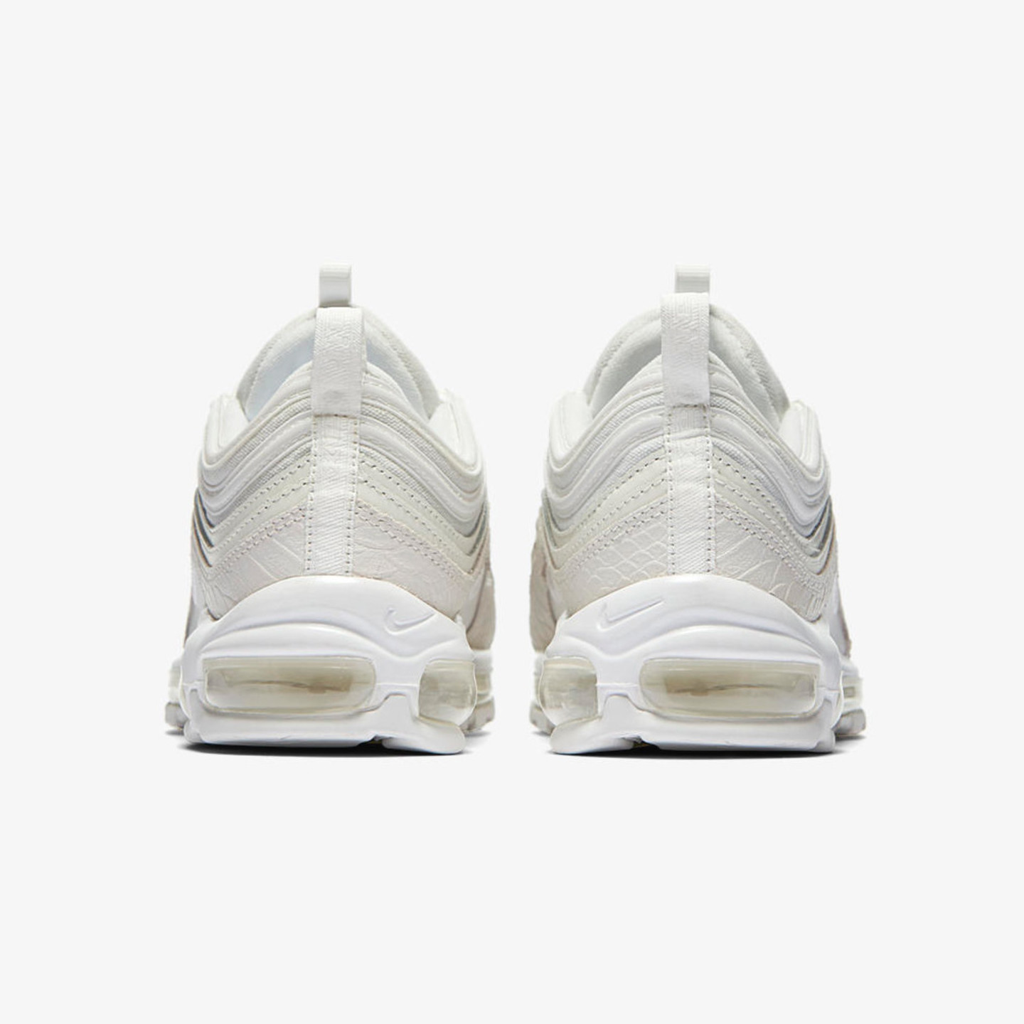 Nike Air Max 97 'Albino Snake' Summit White / Reflective White 921826-100