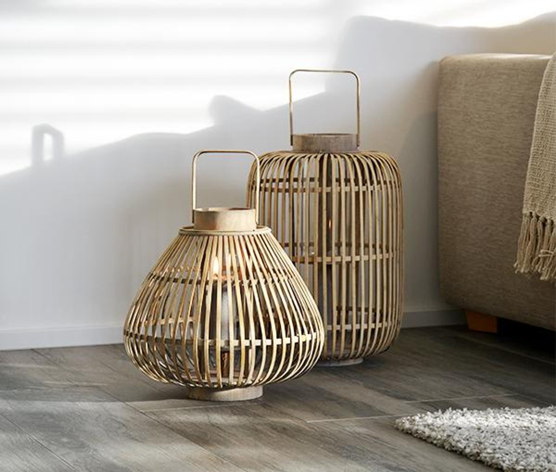 broste copenhagen windlicht tall sahara gro e laterne aus bambusholz tujuh sch ne dinge. Black Bedroom Furniture Sets. Home Design Ideas