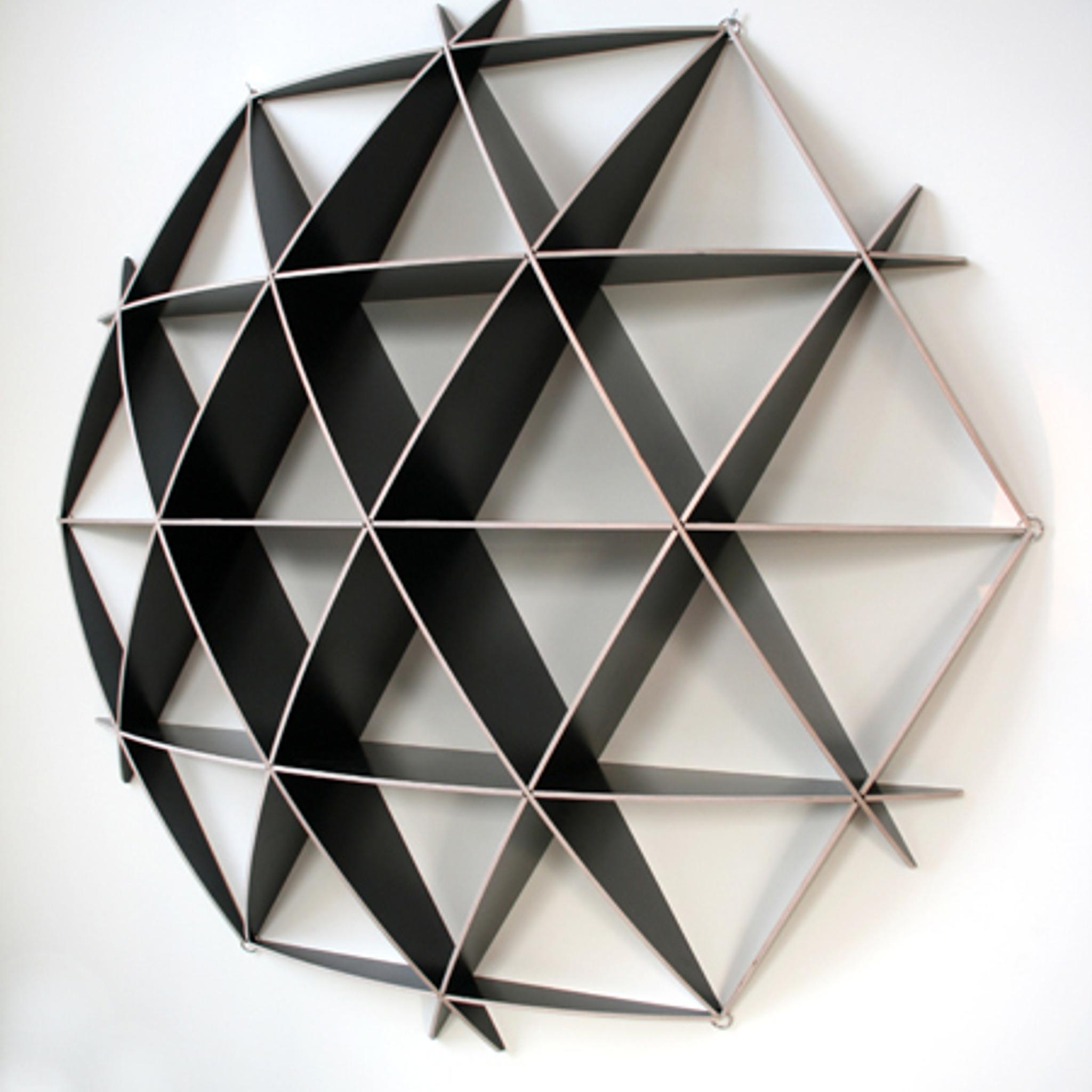 rundes wandregal in schwarz nordisches design. Black Bedroom Furniture Sets. Home Design Ideas