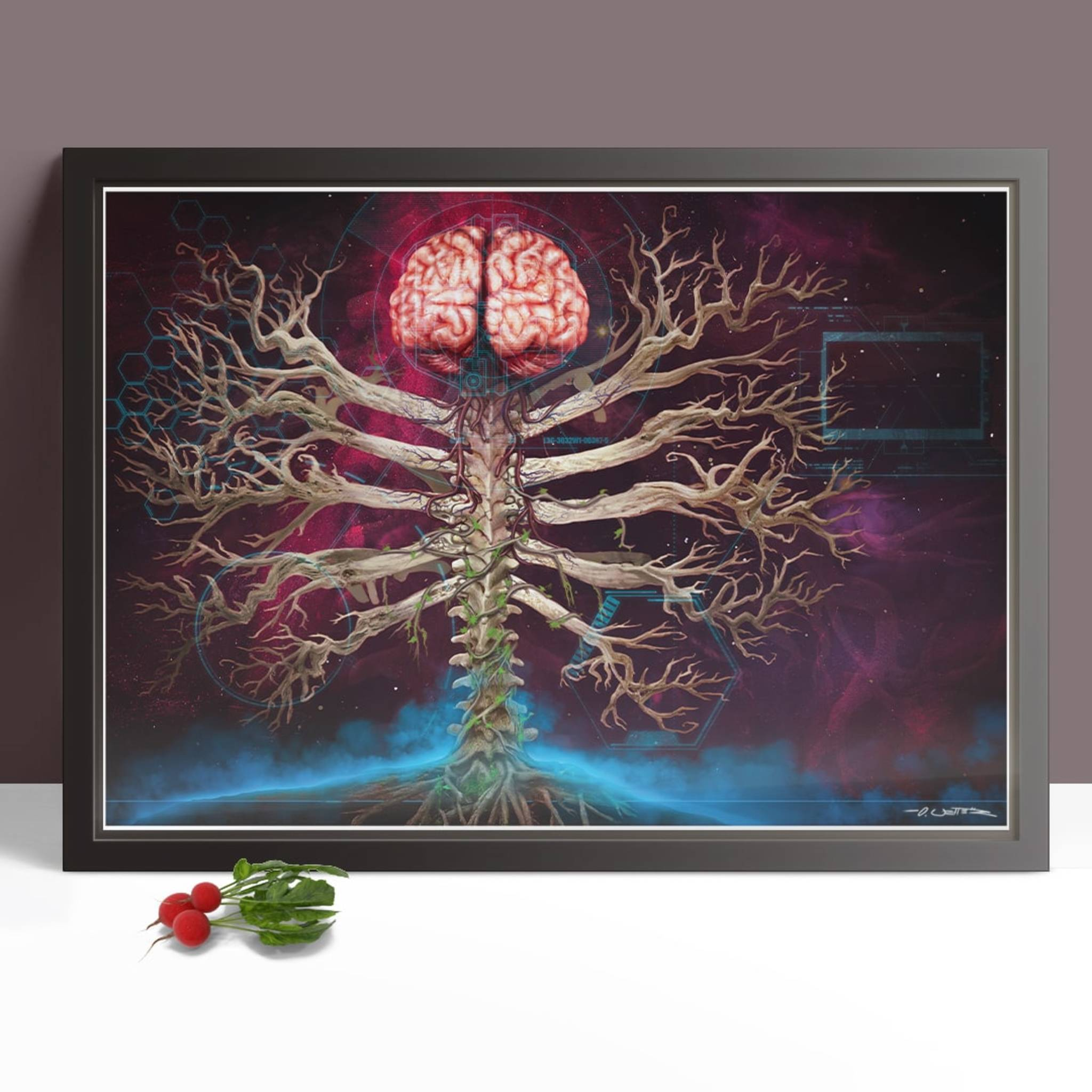 Mindsight art print framed