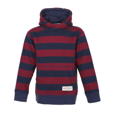 Striped Hooded (navy - brick red)