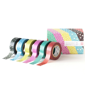 mt Wamon 4 Masking Tape Geschenkbox  / mt Wamon 4 Masking Tape Gift Box  | 6 Rollen gemustertes Washi Tape / 6 rolls of patterned washi tape | Artikelnummer: MT06P004Z