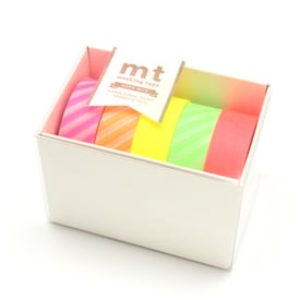 mt Neon Masking Tape Geschenkbox  / mt Florescent Masking Tape Gift Box | 5 Tapes in Neonfarben / 5 tapes in florescent colours | Artikelnummer: MT05G006Z
