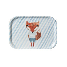 Fox Stripe Mini Tray | Kleines Tablett ca. 27x18cm | Artikelnummer: DW-foxtray
