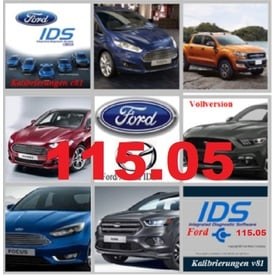 Ford IDS 115.05 + Kalibrierung C 81 Vollversion, Diagnosesoftware, Stand 11.2019 | Alle Windows-Systeme ab Windows 7 | Artikelnummer: 000001151