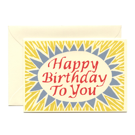 Sonnige Geburtstagskarte / Red, Yellow & Blue Happy Birthday card | Cambridge Imprint | Artikelnummer: cambridge_happybirthday