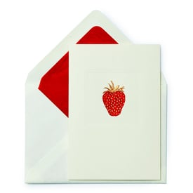 Erdbeere – Kunstpostkarte Stahlstich | Strawberry Intaglio Art Card | Artikelnummer: PH2