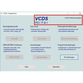 VCDS 18.2.1 Deutsch incl. VCDS 17.8.1 & VCDS 17.8 Reparatur + NE-Tech, VCScope | Alle Windows-Systeme  | Artikelnummer: 000001068