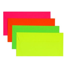 3 x Neon Kuverts DL /  3 x Fluo Envelopes DL | Neon Gelb / Fluo Yellow | Artikelnummer: DL_neongelb