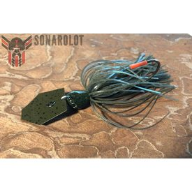 Evergreen Jack Hammer Chatterbait 3/8 Oz | #100 Dark Greenpumpkin | Artikelnummer: 003-99-0008-2