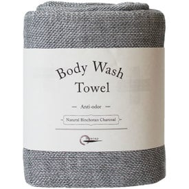 Body Wash Towel Natural Binchotan Charcoal |  | Artikelnummer: E3001