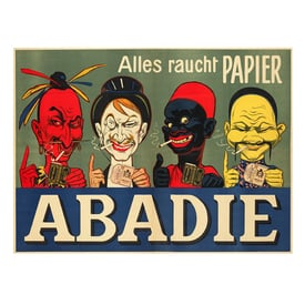 Abadie-Alles raucht Papier | Advertising Poster around 1905 | Artikelnummer: POD-PI-2731