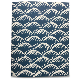 Wellen Geschenkpapier / Indigo Wave Wrapping Paper | Buntpapier 50 x 70cm / Patterned Paper | Artikelnummer: cambridge-papier-wave