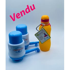 2 Pompe Cristaline avec Viv 500ml orange | Viv Bouteille | Artikelnummer: VIV500 orange