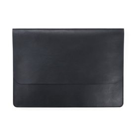 Laptop Case OTIS by UMUOTO | Schwarzes Leder / Black leather | Artikelnummer: Otis_schwarz
