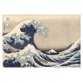 Thirty-six Views of Mount Fuji | Under the Wave at Kanagawa | Artikelnummer: PODE-KI-10988-A4