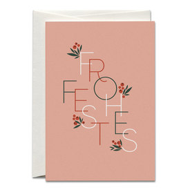 Weihnachtskarte Frohes Fest Rosé / Red Berries Christmas Card | Offsetdruck / Offset print | Artikelnummer: HS_frohes-fest