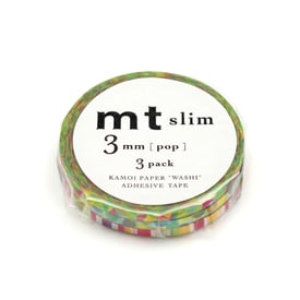mt Masking Tape Super Slim (2 Varianten) | Knallige Farben / Pop Colours | Artikelnummer: MTSLIMS06Z_pop