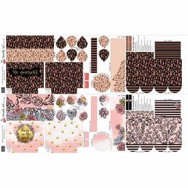 Beauty Kit Panel - Cherry Picking -  | 95 % Baumwolle, 5 % Elasthan ca. 200 g/m2 ca. 100 cm  hoch und 160 cm breit | Artikelnummer: 080983-200999