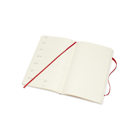 2020 Moleskine Weekly Notebook Large  | Softcover, rot / red | Artikelnummer: 629193-rot