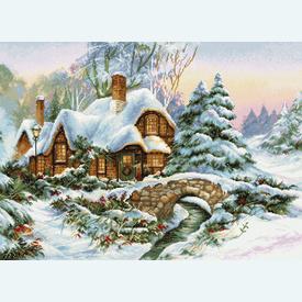 Winter Landscape 5001 - borduurpakket met telpatroon Luca-S |  | Artikelnummer: luca-bu5001