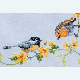 Songbirds loper - voorgedrukt borduurpakket - Vervaco |  | Artikelnummer: vvc-156121
