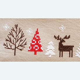 Modern Christmas Design loper - voorgedrukt borduurpakket - Vervaco |  | Artikelnummer: vvc-187383