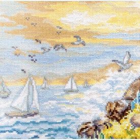 Watching the Sunset - borduurpakket met telpatroon Letistitch |  | Artikelnummer: leti-912