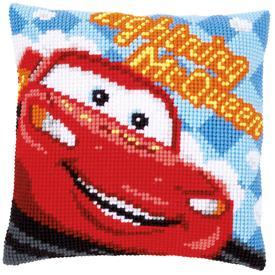 Lightning McQueen - Cars - Vervaco Kruissteekkussen - Disney |  | Artikelnummer: vvc-14609