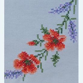 Flowers and Lavendar  loper - voorgedrukt borduurpakket - Vervaco |  | Artikelnummer: vvc-166929