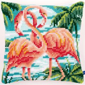 Flamingos - Vervaco Kruissteekkussen  |  | Artikelnummer: vvc-155019