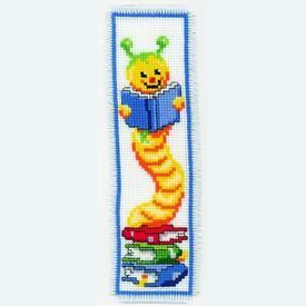 Bladwijzer Bookworm - borduurpakket met telpatroon Vervaco |  | Artikelnummer: vvc-2002-17503