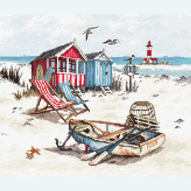 Beach - borduurpakket met telpatroon Letistitch |  | Artikelnummer: leti-972