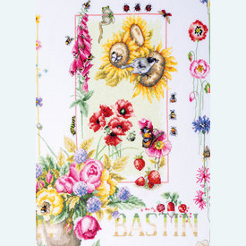 Four Seasons by Marjolein Bastin - borduurpakket met telpatroon Lanarte   Special Edition   Artikelnummer: ln-188067