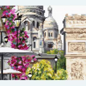 Paris - kruissteekpakket met telpatroon Luca-S |  | Artikelnummer: luca-b2382
