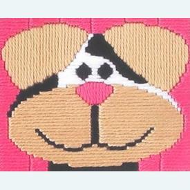 Dog - Vervaco borduurpakket in platsteek, voor kinderen  |  | Artikelnummer: vvc-1270-1217