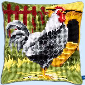 Black Rooster - Vervaco Kruissteekkussen |  | Artikelnummer: vvc-150663