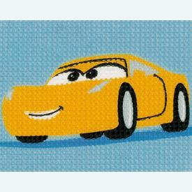 Cruz - Cars - Disney - halve kruissteekpakket Vervaco | Handwerkpakket voor kinderen, te borduren op geschilderd stramien, in halve kruissteek  | Artikelnummer: vvc-167587