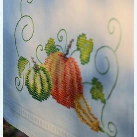 Pumpkins loper - voorgedrukt borduurpakket - Vervaco |  | Artikelnummer: vvc-13431