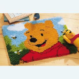 Pooh - knooptapijt Vervaco Winnie the Pooh | Smyrna tapijt met Winnie the Pooh | Artikelnummer: vvc-14722