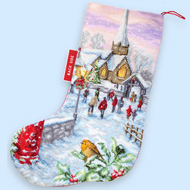 Christmas Eve Stocking - borduurpakket met telpatroon Luca-S |  | Artikelnummer: luca-PM1240
