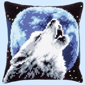 Howling Wolf - Vervaco Kruissteekkussen |  | Artikelnummer: vvc-171818