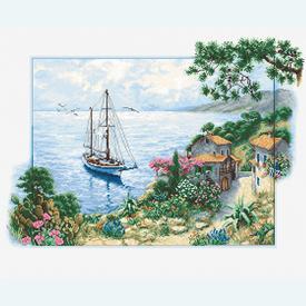 Seascape - borduurpakket met telpatroon Luca-S |  | Artikelnummer: luca-b2343