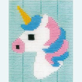 Unicorn - Vervaco borduurpakket in platsteek, voor kinderen |  | Artikelnummer: vvc-171941
